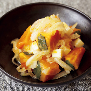 オイル玉ねぎとかぼちゃのサラダ