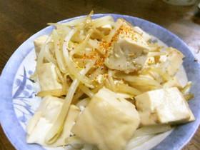豆腐のバターもやし丼