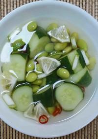きゅうりと枝豆のさわやか漬物