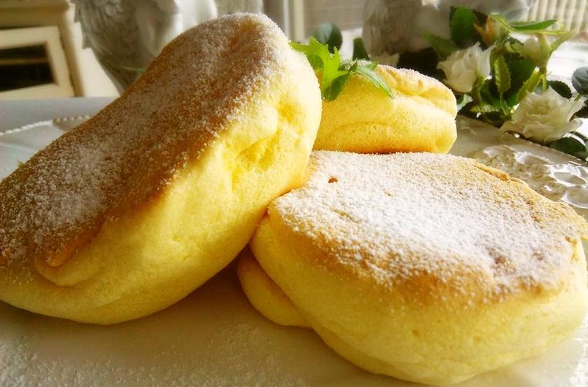 幸せのパンケーキ風ふわふわパンケーキ♬