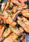 大豆衣で魚肉ソーセージの磯辺揚げ