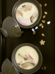 簡単。真茶碗蒸し料亭風。出汁から。具入りの写真