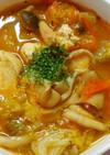 レタスとトマト 鶏むね肉のケチャスープ♡