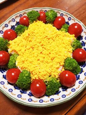 ゆで卵で記念日&クリスマスの可愛いサラダ