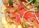 いなり寿司丼(いなり揚げと炒り卵)