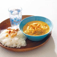 かぼちゃとシーフードの豆乳カレー