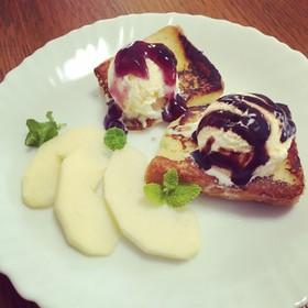 カフェ風フレンチトースト