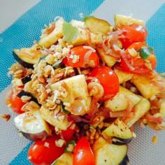トマトと水ナスの夏サラダ