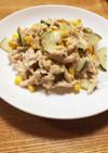 蒸し鶏のごまドレッシングサラダ