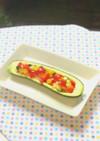 ズッキーニボードのサラダ