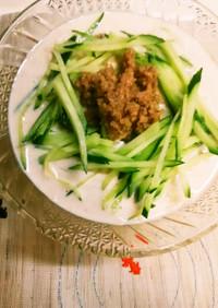 簡単!肉味噌DEスタミナぶっかけ素麺♪