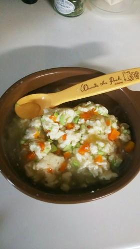 離乳食 後期 豆腐と枝豆のあんかけ