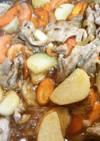 長芋と豚肉の甘辛炒め煮