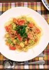 トマトとツナの簡単☆冷製パスタ