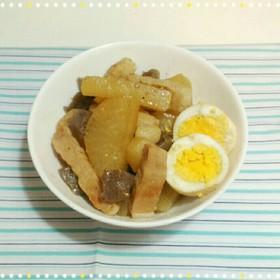 角煮風豚肉と大根の煮物