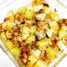 簡単!鶏もも肉とジャガイモのオーブン焼き