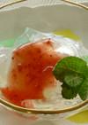 ぷるんぷるんフルーツ寒天 いちごソ−ダ味