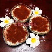 簡単♡北海道チーズ蒸しケーキでティラミスの写真