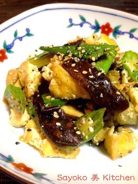茄子と厚揚げのピリ辛味噌炒め