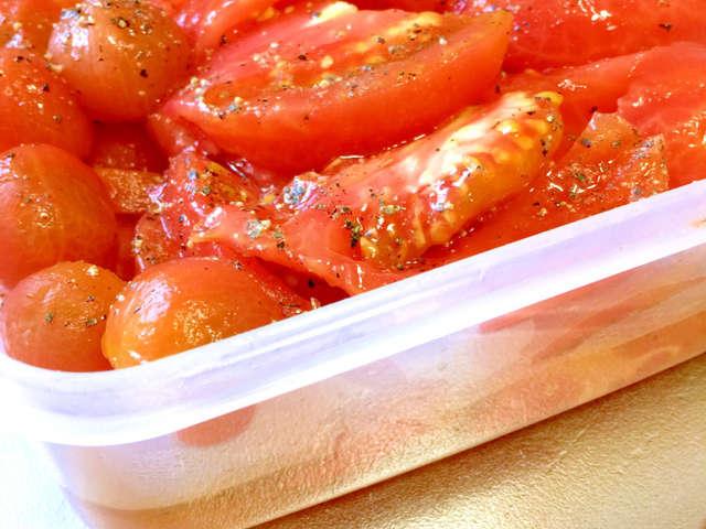 トマト オリーブ オイル 漬け