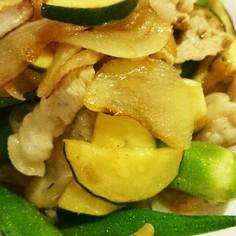 夏野菜の梅肉炒め