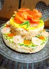 彼ご飯♡BDにお寿司ケーキ