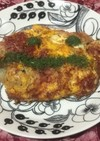 玉葱コンビーフのオムレツ