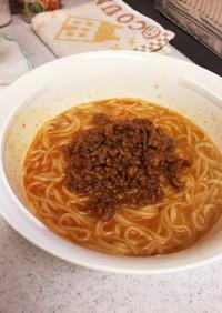 日清ラ王で楽々担々麺〈豆板醤ver〉