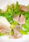 梨とルッコラと生ハムのサラダ
