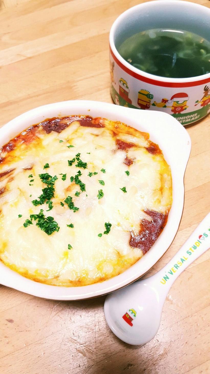 簡単♡冷凍餃子でラザニア風♡ギョウザニア