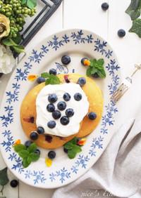 シンプル☆ブルーベリーパンケーキ