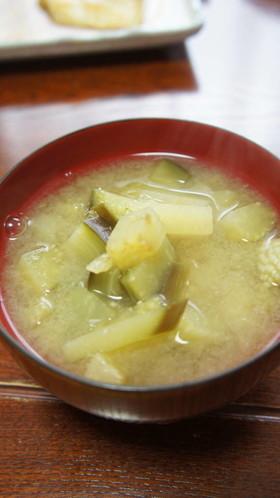 賀茂茄子の味噌汁