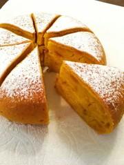 濃厚しっとりかぼちゃケーキ炊飯器の写真