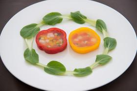 カラフル野菜のテリーヌサラダ