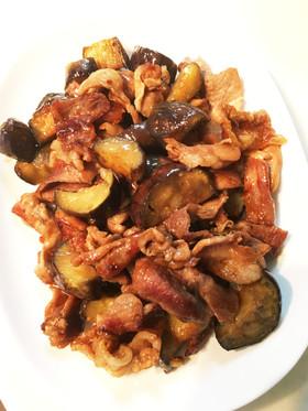 豚コマ肉と茄子の甘辛焼き