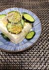 さっぱり美味♫じゃこと胡瓜の塩やっこ