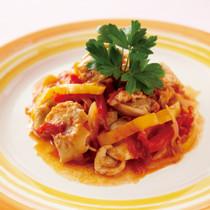 鶏肉とパプリカのトマト煮