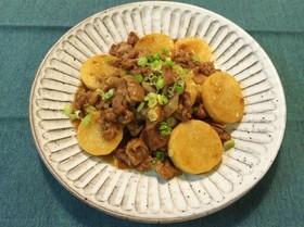 豚肉と長芋のにんにく醤油炒め*