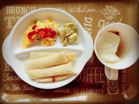 1歳からのꉂ超簡単朝パン,プレート①