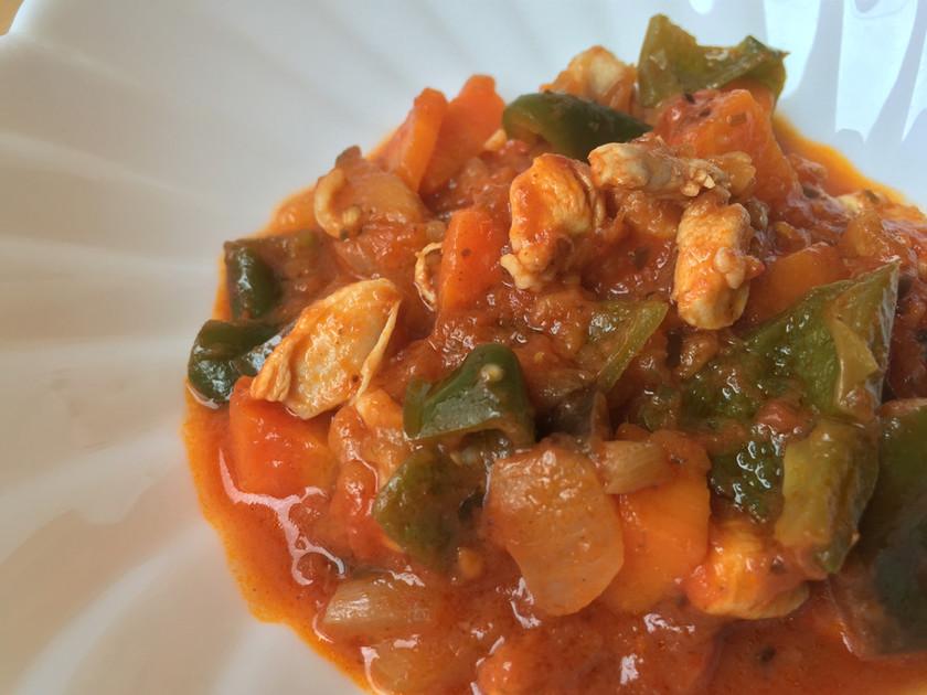 鶏肉ごろごろラタトゥイユ(たっぷり夏野菜