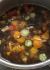 もずくとオクラのトマト風味スープ