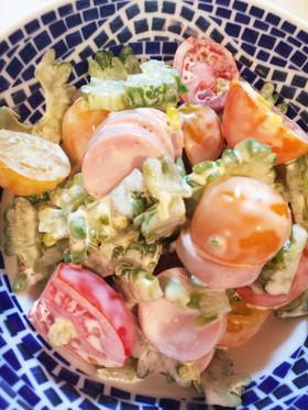 簡単☆ゴーヤとトマトのサラダ