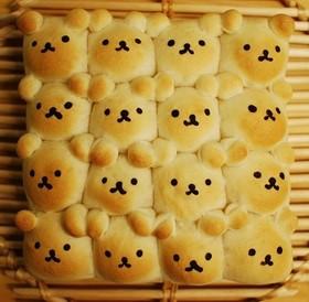 スクエア型で作るくまさんちぎりパン By きぃcafe クックパッド