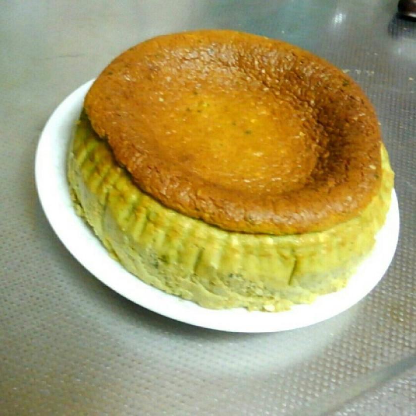 糖質制限★おからの抹茶チーズケーキ