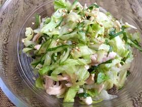 レタスとささみのわさびポン酢サラダ