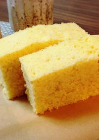 レンジで作る☆ふわふわカステラ風蒸しパン