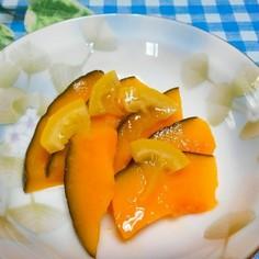 ハロウィンにも♪レンジで簡単♪南瓜レモン