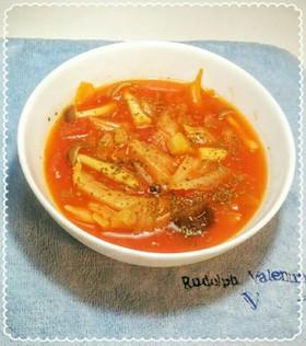 キャベツたっぷりトマトスープ