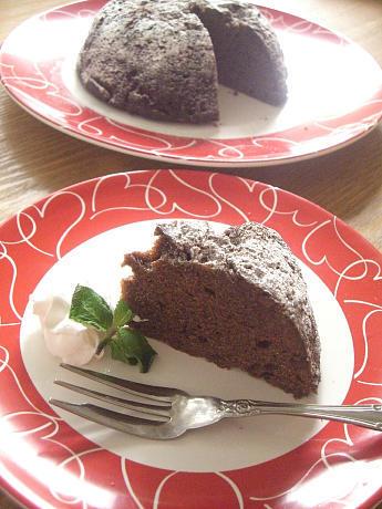 電子レンジで作る♪ チョコレートケーキ