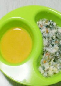 離乳食中期☆白身魚と豆腐のだし煮
